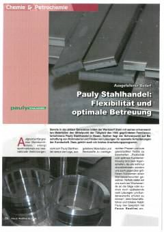 thumbnail of Focus Rostfrei – Pauly Stahlhandel – Flexibilität und optimale Betreuung