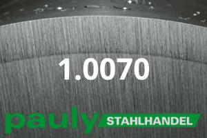 1.0070 Werkstoff-Stahl - Pauly Stahlhandel & artverwandten Materialien