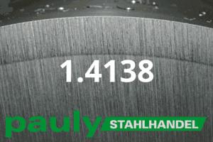 1.4138 Werkstoff-Stahl - Pauly Stahlhandel & artverwandten Materialien