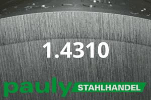 1.4310 Werkstoff-Stahl - Pauly Stahlhandel & artverwandten Materialien