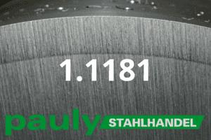 1.1181 Werkstoff-Stahl - Pauly Stahlhandel & artverwandten Materialien